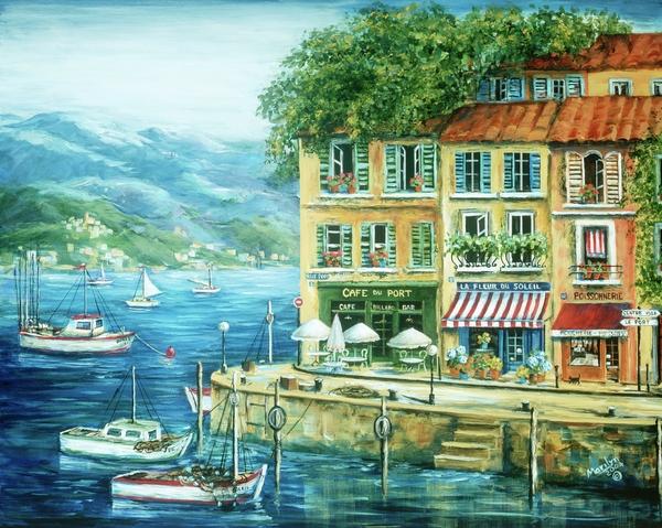 Le Port Print by Marilyn Dunlap