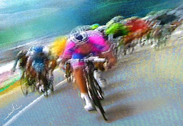 Le Tour De France 09 Print by Miki De Goodaboom