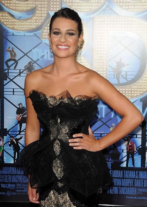 Lea Michele Wearing A Marchesa Dress Print by Everett