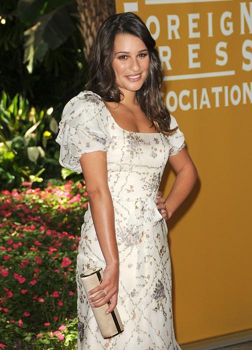 Lea Michele Wearing A Valentino Resort Print by Everett