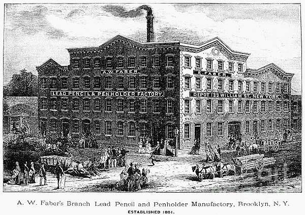 Lead Pencil Factory Print by Granger