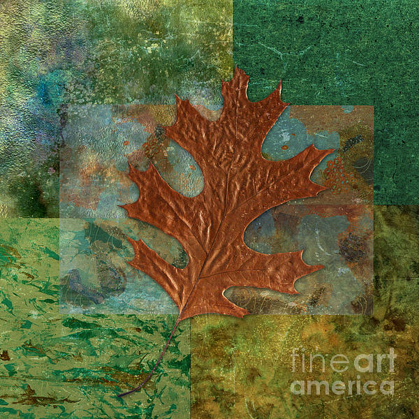 Leaf Life 01 - Green 01b2 Print by Variance Collections