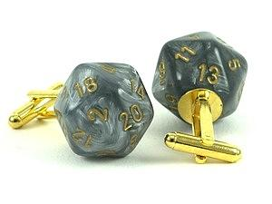 Leaf Steel D20 Cufflinks Jewelry