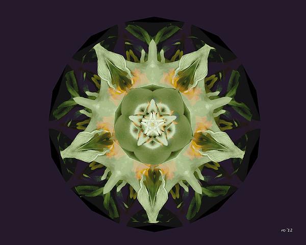 Leafy Mandala Print by Rene Crystal