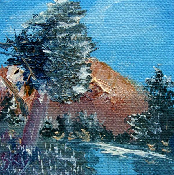 Jera Sky - Leaning Pine Tree Landscape