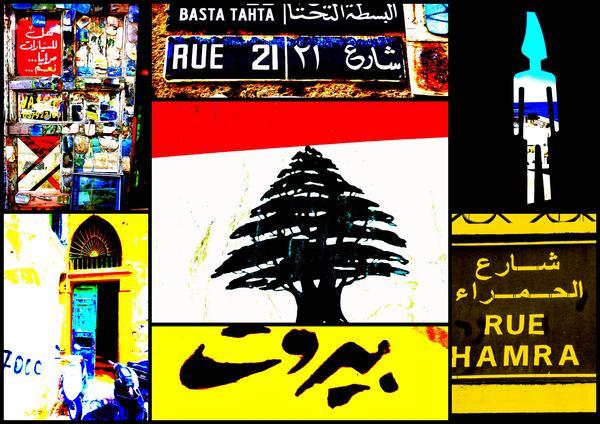 Lebanon Famous Icons Print by Funkpix Photo Hunter