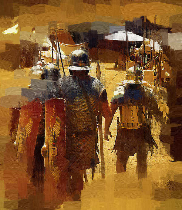 Legionnaires Marching To Camp Painting  - Legionnaires Marching To Camp Fine Art Print