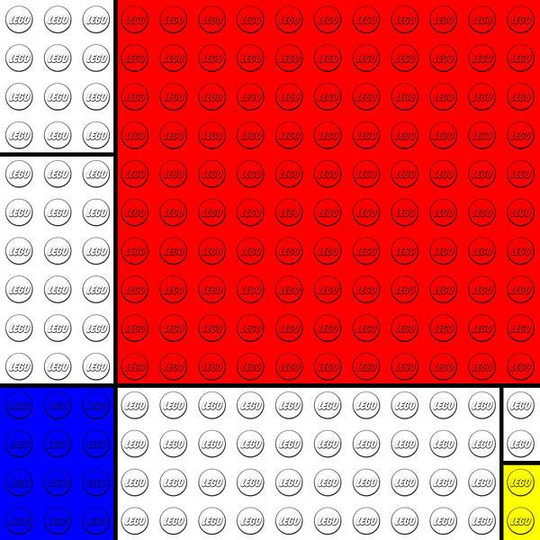 Lego V. Piet Mondrian Print by GP Abrajano