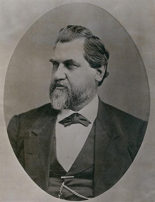 Leland Stanford 1824-1893 Was Drawn Print by Everett