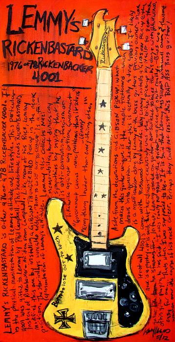 Lemmy's Rickenbacker 4001 Rickenbastard Print by Karl Haglund