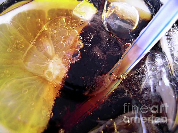 Lemon And Straw Print by Carlos Caetano