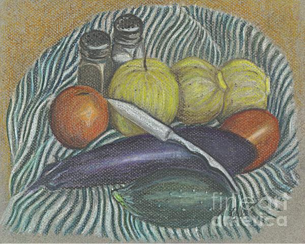Lemon Cucumbers Print by Carol Wisniewski