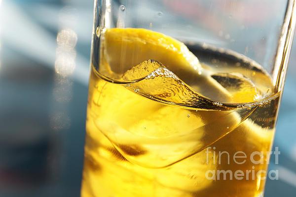 Lemon Drink Print by Carlos Caetano