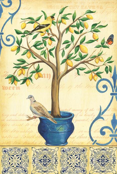 Lemon Tree Of Life Print by Debbie DeWitt