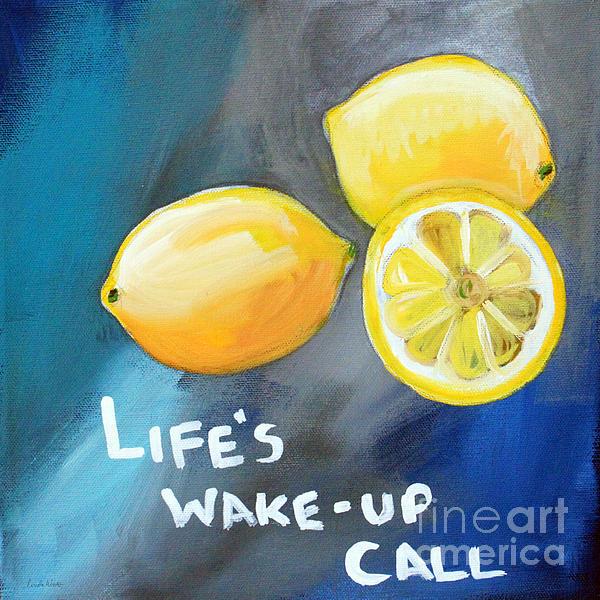 Lemons Print by Linda Woods