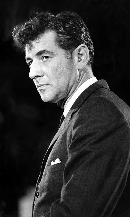 Leonard Bernstein 1918-1990 American Print by Everett