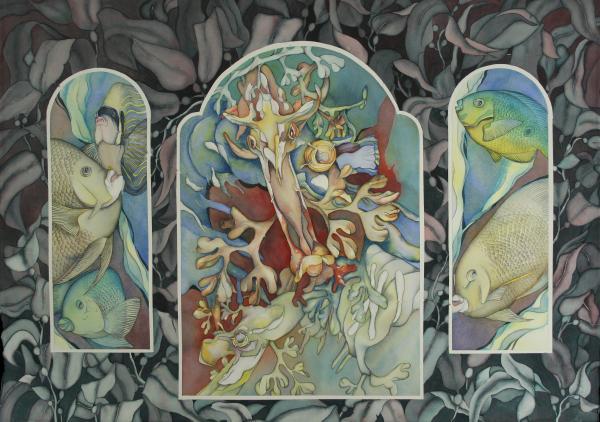 Les Trois Fenetres Print by Liduine Bekman