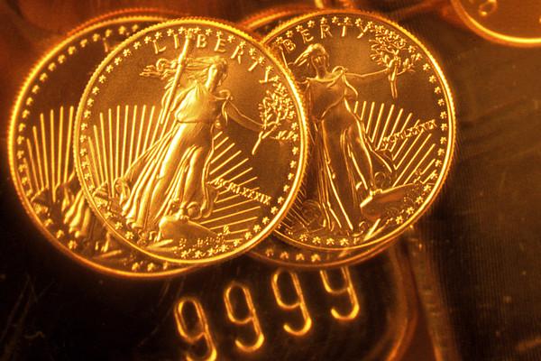 Liberty Gold Coins Print by Lyle Leduc