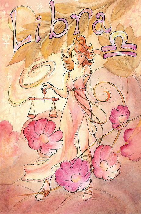 Libra Print by Arwen De Lyon