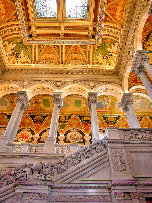Library Of Congress II Print by Steven Ainsworth