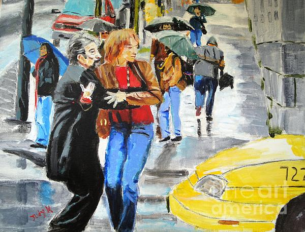 Life In The Big City Print by Judy Kay