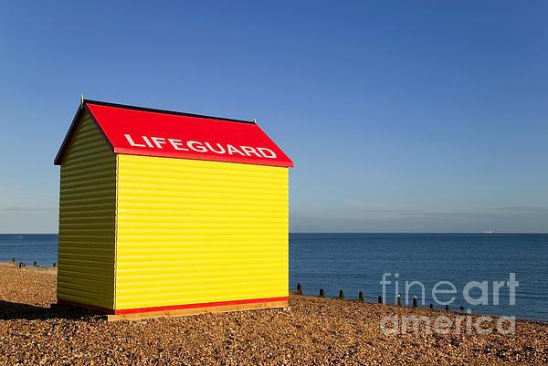 Lifeguard Hut Print by Richard Thomas