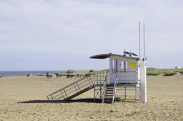 Lifeguard Station At Skegness Print by Rod Johnson