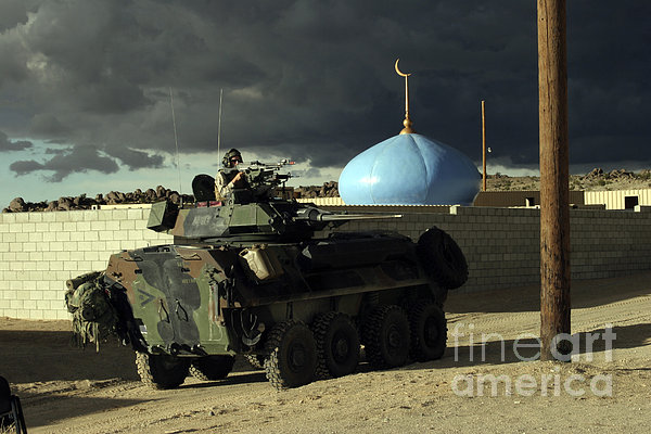 Light Armored Vehicle Commander Mans Print by Stocktrek Images