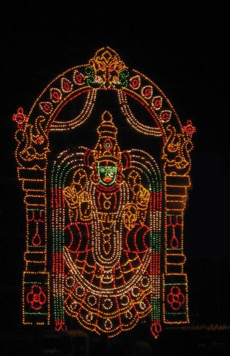 Lighted Durga Print by Umesh U V