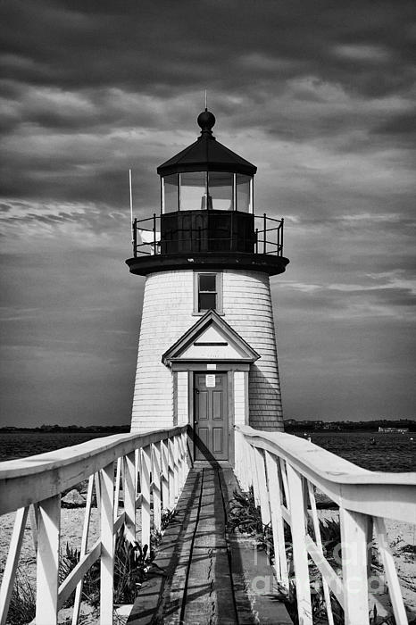 Hideaki Sakurai - Lighthouse at Nantucket Island II - black and white