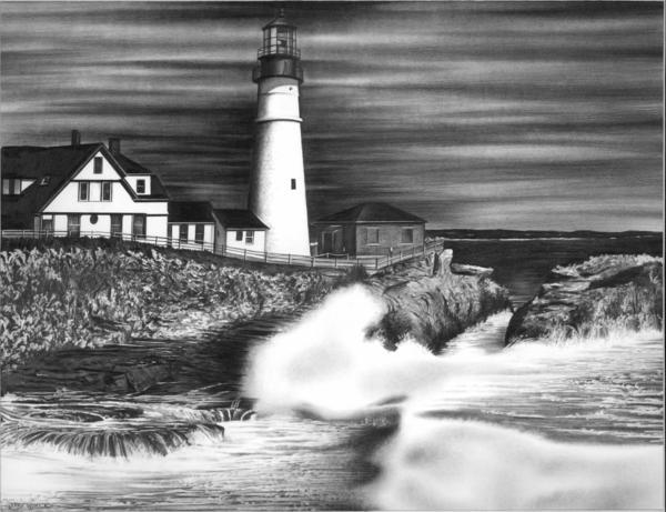 Lighthouse Print by Jerry Winick