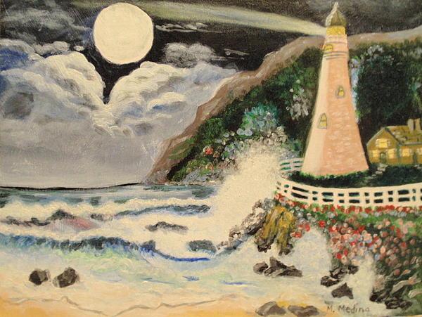 Lighthouse Print by Maria Medina