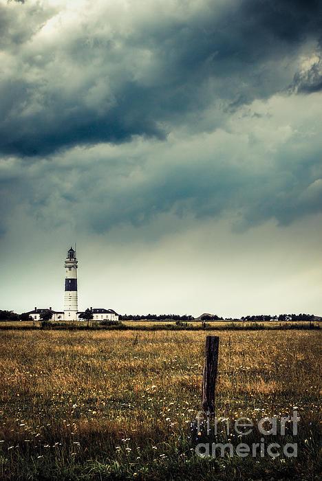Lighthouse Of Kampen -vintage Print by Hannes Cmarits