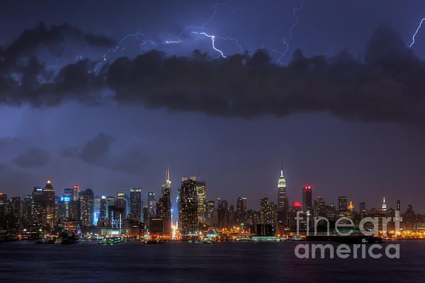 Clarence Holmes - Lightning Over New York City I