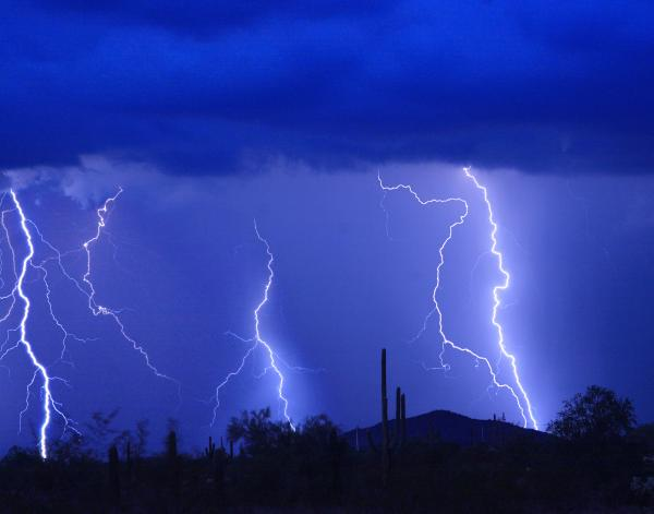 Lightning Storm In The Desert Fine Art Photography Print Print by James BO  Insogna