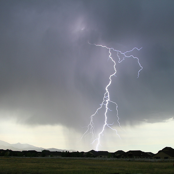 Lightning Strike Print by Bill Dunford