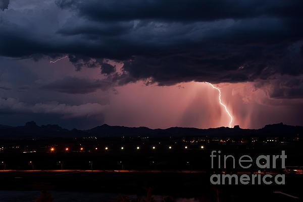 Lightning Strike Print by Eddie Yerkish