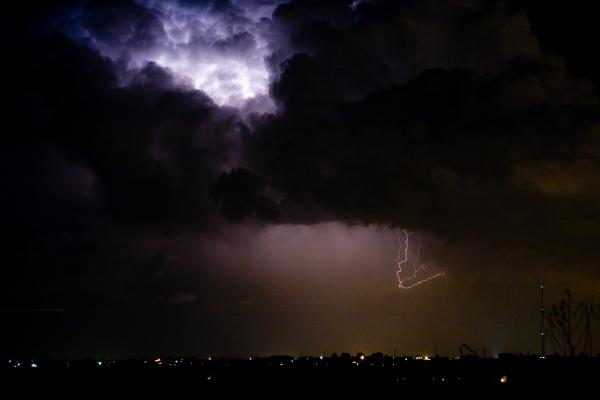 Lightning Thunderstorm Cell 08-15-10 Print by James BO  Insogna