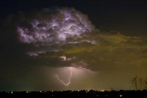 Lightning Thunderstorm With A Hook Print by James BO  Insogna