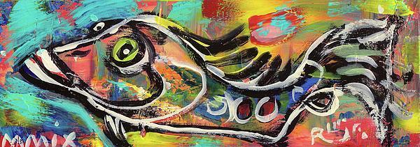 Lil Funky Folk Fish Number Eleven Print by Robert Wolverton Jr