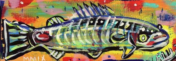 Lil' Funky Folk Fish Number Ten Print by Robert Wolverton Jr