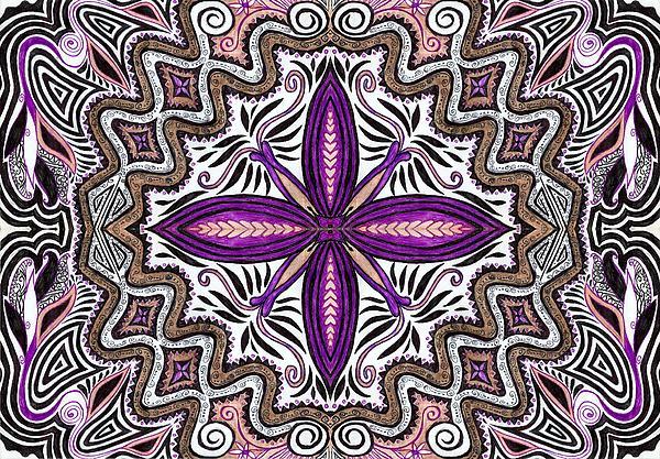 Lilac Garden1 Print by Samar Asamoah