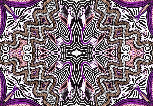 Lilac Garden4 Print by Samar Asamoah