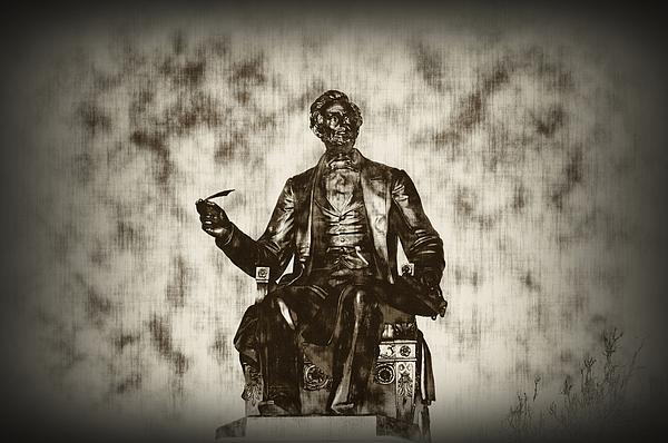 Lincoln - Pen In Hand Print by Bill Cannon