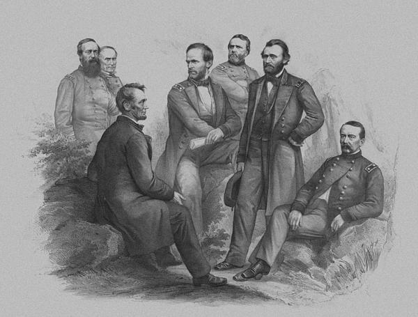 Lincoln And His Generals Print by War Is Hell Store