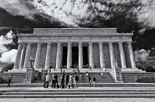 Lori Coleman - Lincoln Memorial in Black and White
