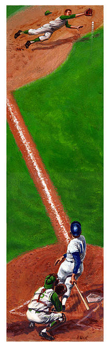 Line Drive Print by Harry West