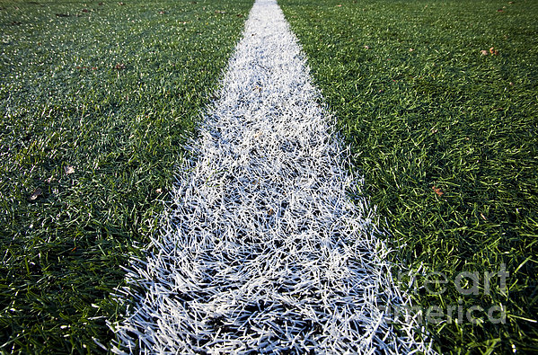 Line On Sports Field Print by Paul Edmondson