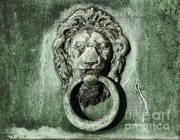 Lion Head Door Knocker By Paul Ward