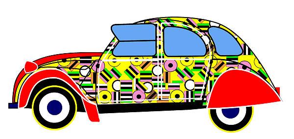 Liqourice Allsorts - Virtual Car Print by Asbjorn Lonvig